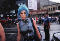 misty in sheridan square new york by nan goldin