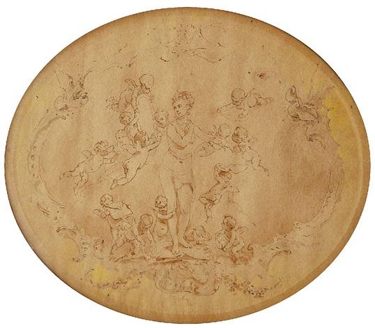 venus mit putten / amoretten (3 works) by mihály von zichy
