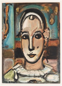 pierrot by georges rouault