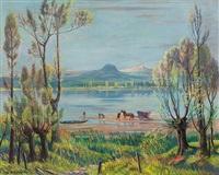 landschaft am bodensee mit blick in das hegau by willi münch-khe