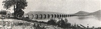 the new stone bridge over the susquehanna river at     rockville, pa. by william h. rau