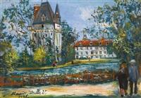 château de saintines, oise by maurice utrillo