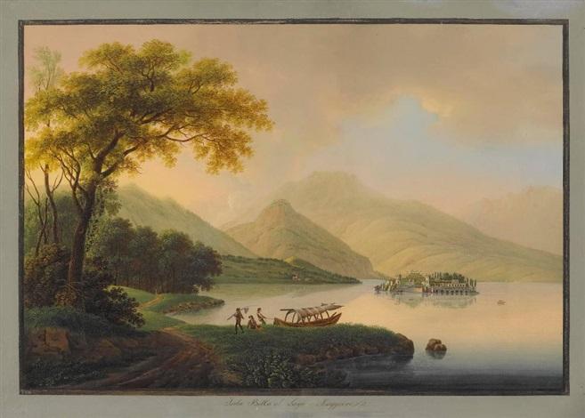 lago maggiore blick auf die isola bella by johann ludwig louis bleuler