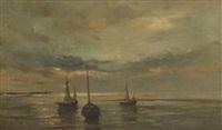 marine au coucher du soleil by artan