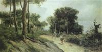 paisaje con campesinos (argentona) by ricardo martí aguiló