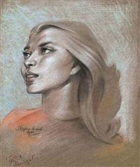 portrait of miss tessa prendagast by stephen ward