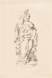 entwurf zu einer allegorischen statue der ceres by bernhard (christian bernhard) rode