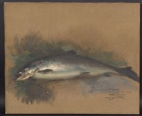souvenir of keezar lake/a still life with trout by douglas volk