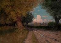 paisaje con árboles y camino by gonzalo bilbao martínez
