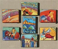corrida (7 work polyptych) by christian jodin