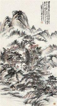 策杖寻秋图 by zhao yunhe
