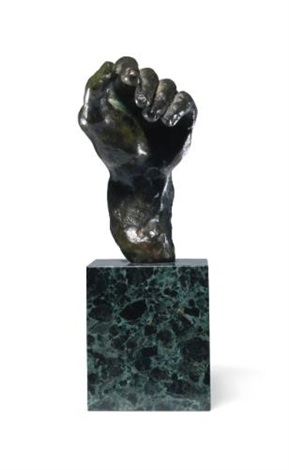 main gauche no4 by auguste rodin