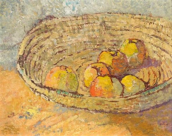 äpfel in strohschale by otto niemeyer holstein