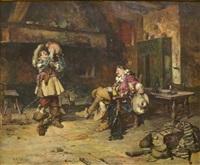 cavaliers at tavern by maximo juderias caballero