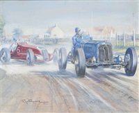 the ulster trophy race by raymond groves