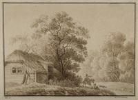landschaft mit bauernhaus by johann philipp veith