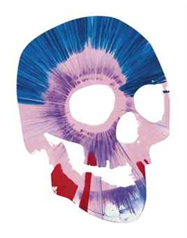 spin skull by damien hirst