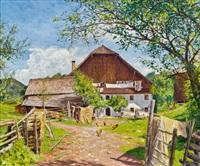 bauernhof in st. gilgen by adolf helmberger