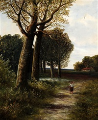 figure on a wooded path by abraham hulk the younger