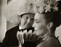 orson welles at count beistiguy ball, venice by ruth orkin