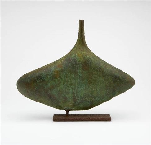 Welded Metal Vase On Stand By Fantoni On Artnet