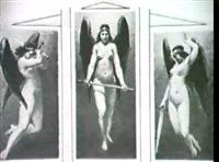 die kriegsgottin bellona (grossen: 9,7x5,6(2) und 11,3x5,7cm) by otto försterling