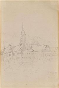 kloster schäftlarn by carl spitzweg