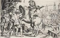 horatius cocles verteidigt die brücke by georg pencz