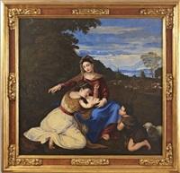 madonna mit kind, dem johannesknaben und der heiligen katharina by alessandro varotari
