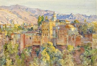 the alhambra from the artist's studio, early evening by george owen wynne apperley