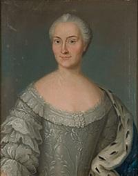 porträtt av kunglig dam by johan stålbom