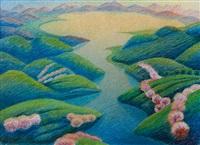 paesaggio con lago by gerardo dottori