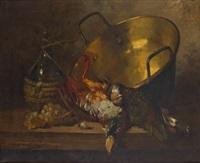 bodegón con cacharro de cobre by bernard neville