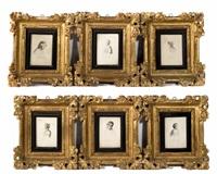 ritratti di personaggi classici (6 works) by anna waser