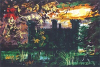 eastnor castle, hereford by john piper