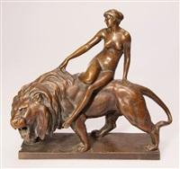 weiblicher akt auf löwe by max valentin