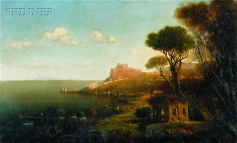 view of the italian coast by george loring brown