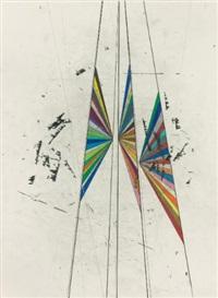 untitled (double butterfly) by mark grotjahn