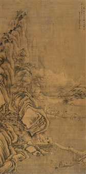 landscape (after guo xi) by da shan