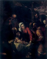 adorazione dei pastori by francesco bassano the younger