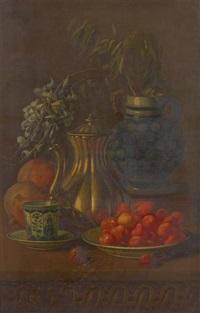 nature morte aux fraises by albert raoux