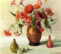 still life of flowers in a vase by brantley smith