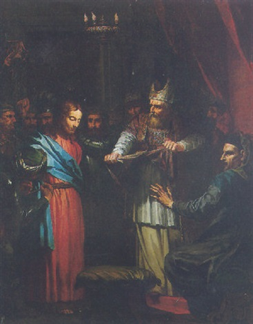 christ before caiaphas and anneas by jean baptiste corneille