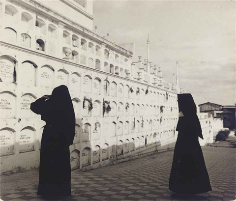 peru two nuns at mausoleum by robert frank