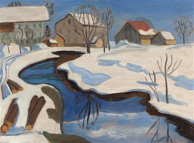Bilder Mit Häusern moorbach mit häusern im schnee by gabriele münter on artnet