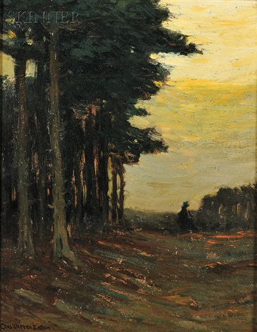 edge of the pine grove by charles warren eaton
