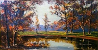 lakeside landscape by morris katz