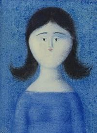 ragazza in azzurro by antonio bueno