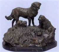 hirtenhundfamilie by gyula (julius) maugsch