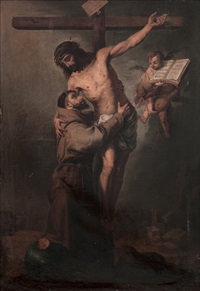 san francisco abrazando a cristo crucificado (after bartolomé esteban murillo) by francisco cabral bejarano